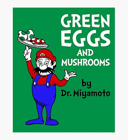 Green Eggs and Mushrooms Photographic Print