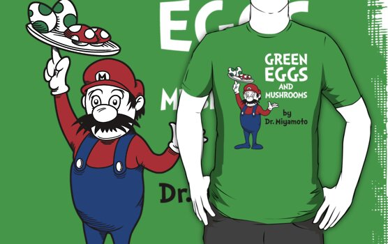 Green Eggs and Mushrooms by Adho1982
