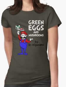 Green Eggs and Mushrooms Womens Fitted T-Shirt