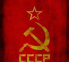 Soviet Union - CCCP - USSR - Russian - Cold War (star hammer and sickle) by James Ferguson - Darkinc1