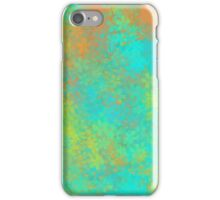 blue yellow and orange flowers abstract background iPhone Case/Skin