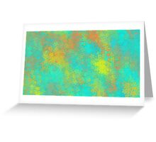 blue yellow and orange flowers abstract background Greeting Card