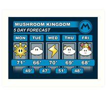 Mushroom Kingdom 5 Day Weather Forecast Art Print