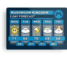 Mushroom Kingdom 5 Day Weather Forecast Metal Print