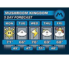 Mushroom Kingdom 5 Day Weather Forecast Photographic Print