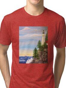 Lighthouse Cliff Tri-blend T-Shirt