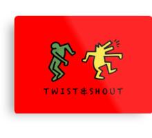 Twist & Shout - Keith Haring Metal Print