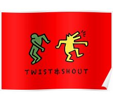 Twist & Shout - Keith Haring Poster