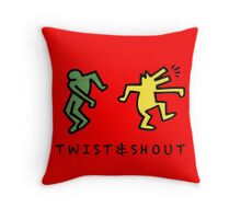 Twist & Shout - Keith Haring Throw Pillow