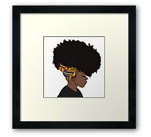 big afro Framed Print