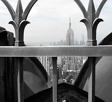 Empire State Building and Freedom Tower by Karen Paquette