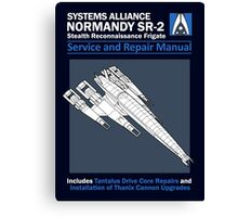 SR2 Service and Repair Manual Canvas Print