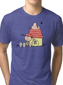 Earthbrown: A Boy and his Saturn Tri-blend T-Shirt