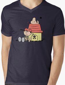 Earthbrown: A Boy and his Saturn Mens V-Neck T-Shirt