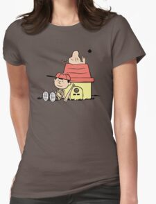 Earthbrown: A Boy and his Saturn Womens Fitted T-Shirt