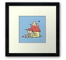 Earthbrown: A Boy and his Saturn Framed Print