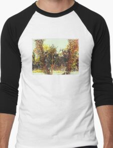 """Watcher in the Woods"" Men's Baseball ¾ T-Shirt"