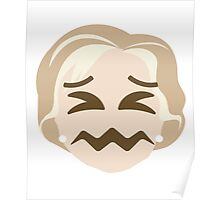 "Hillary ""The Emoji"" Clinton Sour Face Poster"