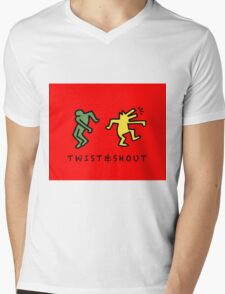 Twist & Shout - Keith Haring Mens V-Neck T-Shirt