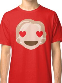 "Hillary ""The Emoji"" Clinton Heart and Love Eyes Classic T-Shirt"