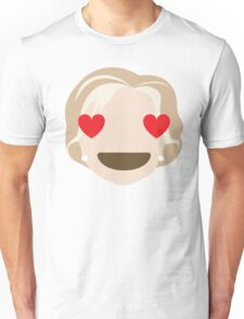 "Hillary ""The Emoji"" Clinton Heart and Love Eyes Unisex T-Shirt"