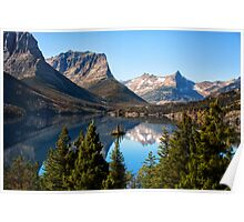 St Mary's Lake, Glacier National Park, MT Poster
