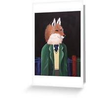 Professor Fox Greeting Card