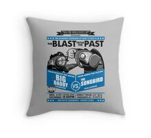 The Blast from the Past Throw Pillow
