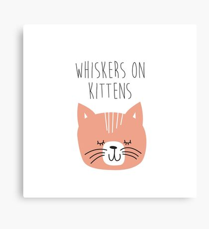 sound of music whiskers on kittens Canvas Print
