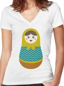 Enid Women's Fitted V-Neck T-Shirt