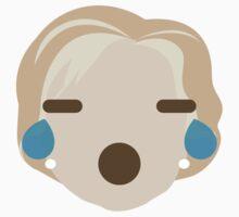 "Hillary ""The Emoji"" Clinton Teary Eyes and Sad Face One Piece - Short Sleeve"