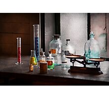 Science - Chemist - Chemistry Equipment  Photographic Print