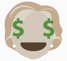 "Hillary ""The Emoji"" Clinton Money Face One Piece - Long Sleeve"