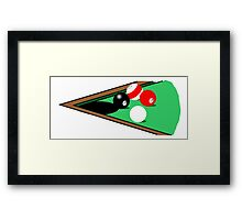 Corner Pocket Framed Print