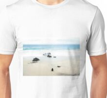 beach and sand with blue sky Unisex T-Shirt