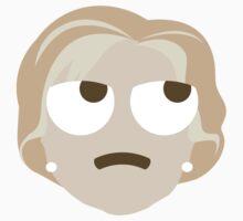 "Hillary ""The Emoji"" Clinton Thinking Hard and Hmm Face Kids Tee"