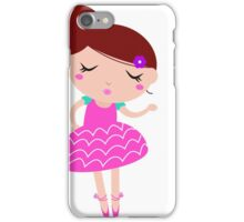 New! Little cute balerina kids characters iPhone Case/Skin