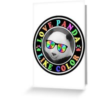 Love panda like color Greeting Card