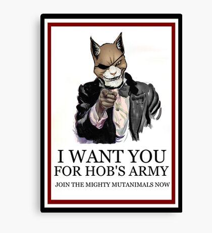 Hob's Army Canvas Print