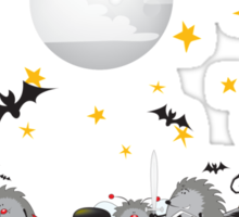 halloween hedgehogs party gang Sticker