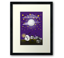 halloween hedgehogs party gang Framed Print