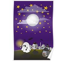 halloween hedgehogs party gang Poster