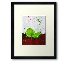 Zesting a Lime Framed Print
