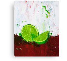 Zesting a Lime Canvas Print