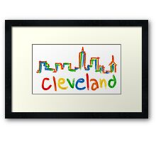 Colorful CLE  Framed Print
