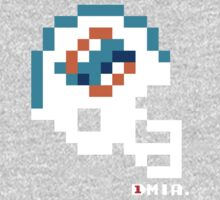 Miami Current Helmet - Tecmo Bowl shirt One Piece - Long Sleeve