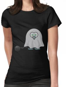 Ghost of a Penguin Womens Fitted T-Shirt