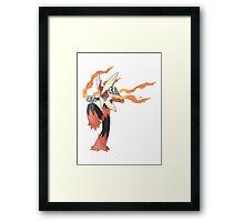 Mega Evolution Blaziken Framed Print