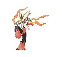 Mega Evolution Blaziken Photographic Print