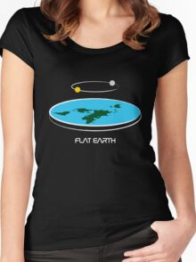 Flat Earth Theory Diagram Women's Fitted Scoop T-Shirt